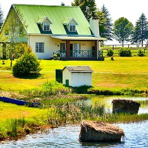 Bellwood cottages on dam