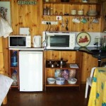 Waterwood Fishermans Cottage Kitchen and second set of beds